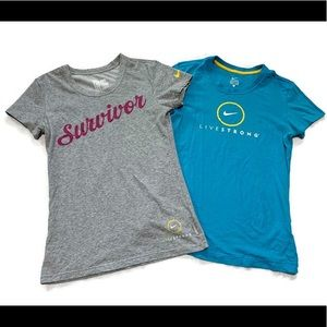 Nike Women's Bundle of 2  Livestrong T Shirt